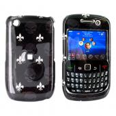 Blackberry Curve 3G 9330, 9300, 8520, 8530 Hard Case - French Flower &amp; Skulls on Black
