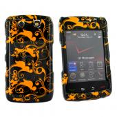 Blackberry Storm 2 9550 Hard Case - Brown Swirl Designs on Black