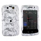 Blackberry Storm 2 9550 Hard Case - Grey Swirl Designs on White
