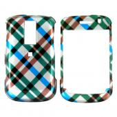 Blackberry Bold 9000 Hard Case - Checkered Diamonds of Blue, Green, Brown, Silver