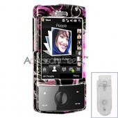 HTC Touch Diamond Hard Case - Floral in Black (CDMA)