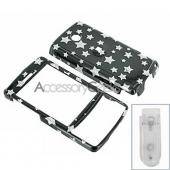 HTC Touch Diamond Hard Case - Silver Star on Black (CDMA)