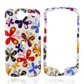 Google Nexus One Hard Case - Colorful Butterflies on White