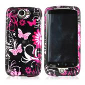 Google Nexus One Hard Case - Floral Design on Black