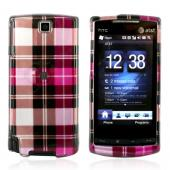 HTC Pure Hard Case - Plaid Pattern of Hot Pink, Brown, Pink