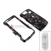 LG Versa VX9600 Hard Case - Purple Stars on Black
