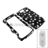 LG Versa VX9600 Hard Case - Silver Stars on Black
