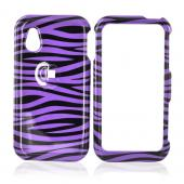 LG Opera TV Hard Case - Purple/Black Zebra