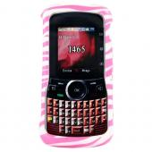 Motorola Clutch i465 Hard Case - Baby Pink Zebra on White