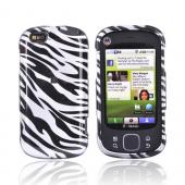 Luxmo Motorola Cliq XT MB501 Hard Case - Silver/Black Zebra
