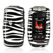Motorola Quantico W845 Hard Case - Silver/Black Zebra