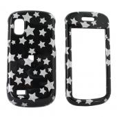 Samsung Solstice A887 Hard Case - Silver Stars on Black