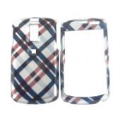 Samsung Jack i637 Hard Case - Checkered Plaid Pattern of Navy Blue, Brown, Silver