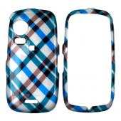 Samsung Instinct HD M850 Hard Case - Checkered Diamonds of Blue, Brown, and Grey