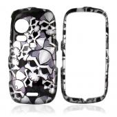 Samsung Instinct HD M850 Hard Case - Skulls on Black