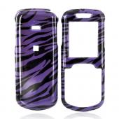 Samsung Stunt R100 Hard Case - Purple/Black Zebra