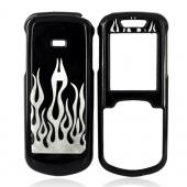 Samsung Stunt R100 Hard Case - Silver Flame on Black