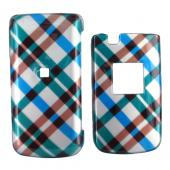 Samsung Myshot 2 R460 Hard Case - Checkered Diamonds of Blue, Green, Brown, Silver