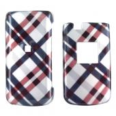 Samsung Myshot 2 R460 Hard Case - Checkered Plaid Pattern of Navy Blue, Brown, Silver