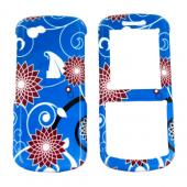 Samsung T349 Hard Case - Floral on Blue