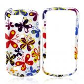 Samsung Behold 2 T939 Hard Case - Colorful Butterflies on White
