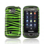 Samsung Reality U820 Hard Case - Green/Black Zebra