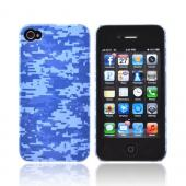 Geeks Designer Line (GDL) Apple iPhone 4/4S Slim Hard Back Cover - Blue Digital Camouflage
