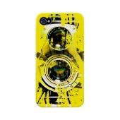 Geeks Designer Line (GDL) Retro Series Apple iPhone 4/4S Slim Hard Back Cover - Chaotic Yellow Camera