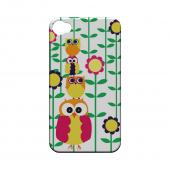 Geeks Designer Line (GDL) Owl Series Apple iPhone 4/4S Slim Hard Back Cover - Colorful Owl Tower