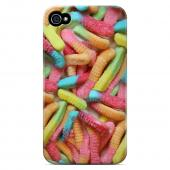 Geeks Designer Line (GDL) Apple iPhone 4/4S Slim Hard Back Cover - Multi-Colored Gummy Worms