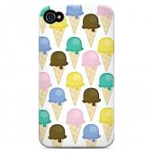 Geeks Designer Line (GDL) Apple iPhone 4/4S Slim Hard Back Cover - Assorted Ice Cream Cones