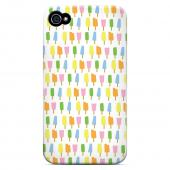 Geeks Designer Line (GDL) Apple iPhone 4/4S Slim Hard Back Cover - Assorted Popsicles