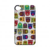 Geeks Designer Line (GDL) Owl Series Apple iPhone 4/4S Slim Hard Back Cover - Quadrilateral Owl Configuration