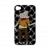 Geeks Designer Line (GDL) Apple iPhone 4/4S Slim Hard Back Cover - Zombie w/ Skull & Crossbones
