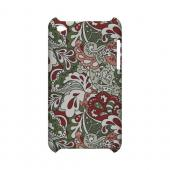 Green/ Red/ Pink Paisley - Geeks Designer Line Floral Series Hard Case for Apple iPod Touch 4