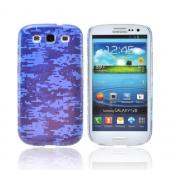Geeks Designer Line (GDL) Samsung Galaxy S3 Slim Hard Back Cover - Blue Digital Camouflage