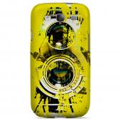 Geeks Designer Line (GDL) Retro Series Samsung Galaxy S3 Slim Hard Back Cover - Chaotic Yellow Camera
