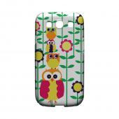 Geeks Designer Line (GDL) Owl Series Samsung Galaxy S3 Slim Hard Back Cover - Colorful Owl Tower