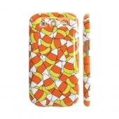 Geeks Designer Line (GDL) Samsung Galaxy S3 Slim Hard Back Cover - Candy Corn Galore