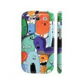 Geeks Designer Line (GDL) Samsung Galaxy S3 Slim Hard Back Cover - ZORGBLATS Gang on White