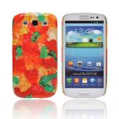 Geeks Designer Line (GDL) Samsung Galaxy S3 Slim Hard Back Cover - Multi-Colored Gummy Bears