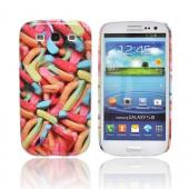 Geeks Designer Line (GDL) Samsung Galaxy S3 Slim Hard Back Cover - Multi-Colored Gummy Worms