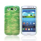 Geeks Designer Line (GDL) Samsung Galaxy S3 Slim Hard Back Cover - Green Digital Camouflage