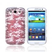 Geeks Designer Line (GDL) Samsung Galaxy S3 Slim Hard Back Cover - Gray Digital Camouflage