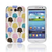 Geeks Designer Line (GDL) Samsung Galaxy S3 Matte Hard Back Cover - Assorted Ice Cream Cones