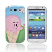 Geeks Designer Line (GDL) Samsung Galaxy S3 Slim Hard Back Cover - Cute Pink Ice Cream Cone