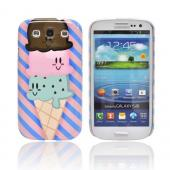 Geeks Designer Line (GDL) Samsung Galaxy S3 Slim Hard Back Cover - Triple Scoop Ice Cream Cone