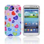 Geeks Designer Line (GDL) Samsung Galaxy S3 Slim Hard Back Cover - Assorted Heart Lollipops