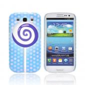 Geeks Designer Line (GDL) Samsung Galaxy S3 Slim Hard Back Cover - Purple Lollipop