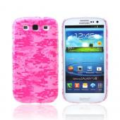 Geeks Designer Line (GDL) Samsung Galaxy S3 Slim Hard Back Cover - Pink Digital Camouflage